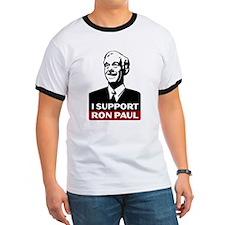 I Support Ron Paul 3 Ringer T