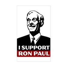 I Support Ron Paul 3 Sticker (Rectangle)