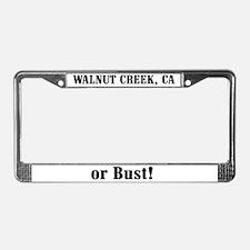 Walnut Creek or Bust! License Plate Frame