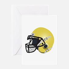 Yellow Gold Football Helmet Greeting Card