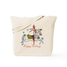 Christmas Carousel Tote Bag