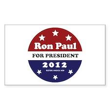 Ron Paul for President Sticker (Rectangle)