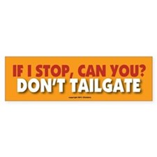 TG 15 If I stop Bumper Bumper Sticker