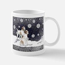 Jack Russells in the snow Mug