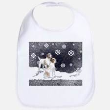 Jack Russells in the snow Bib
