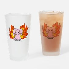 Angry Bunny Drinking Glass