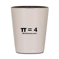 Pi = 4 Shot Glass