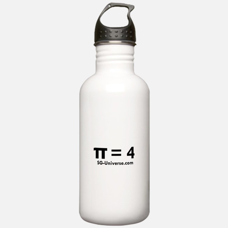 Pi = 4 Water Bottle