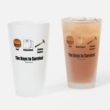 Keys to Survival Drinking Glass