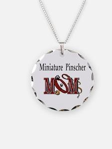 Miniature Pinscher Gifts Necklace Circle Charm