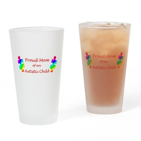 Autism Mom Drinking Glass