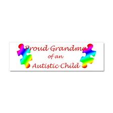 Autism Grandma Car Magnet 10 x 3