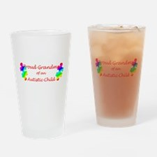 Autism Grandma Drinking Glass
