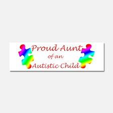 Autism Aunt Car Magnet 10 x 3