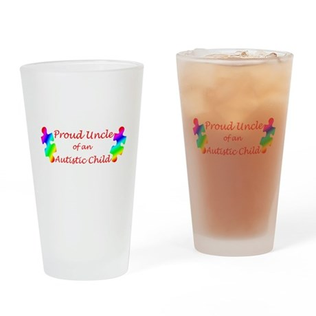 Autism Uncle Drinking Glass