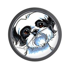 B/W Shih Tzu Art Wall Clock