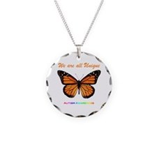 Butterfly: Autism Awareness Necklace
