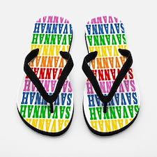 Unique Savannah name Flip Flops
