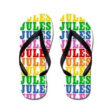 Cute Jules name Flip Flops