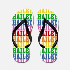 Funny Hailey Flip Flops