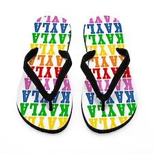 Rainbows Flip Flops
