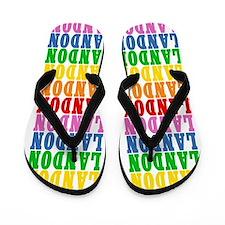 Funny Landon Flip Flops
