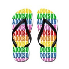 Cute Addison name Flip Flops