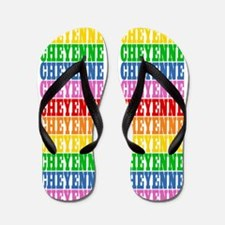 Funny Cheyenne Flip Flops