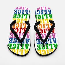 Unique Alice Flip Flops