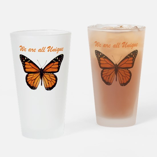 We Are All Unique: Butterfly Drinking Glass