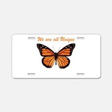 We Are All Unique: Butterfly Aluminum License Plat