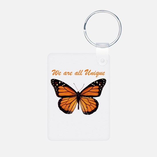 We Are All Unique: Butterfly Aluminum Photo Keycha