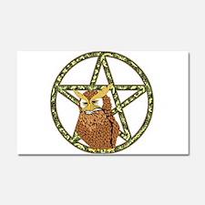 vines Pentagram Owl Car Magnet 20 x 12