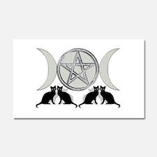 Silver Diamond Pentagram Car Magnet 20 x 12