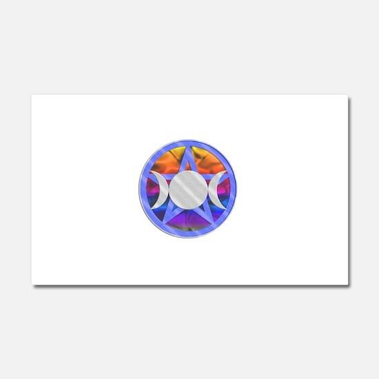 Pentagram Triple Goddess Car Magnet 20 x 12