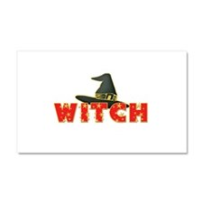 Witch Hat and Stars Red Car Magnet 20 x 12