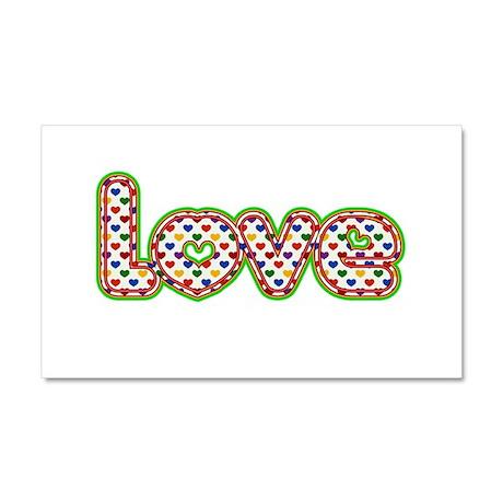 Rainbow Hearts Love Car Magnet 20 x 12