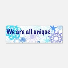 Snowflakes Collage Car Magnet 10 x 3