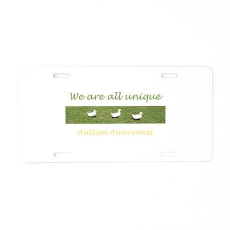 ducks Aluminum License Plate