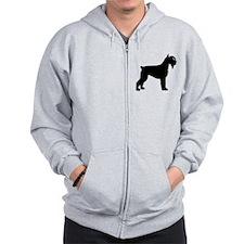 Schnauzer Dog Zip Hoodie