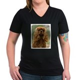 Cavalier king charles Womens V-Neck T-shirts (Dark)