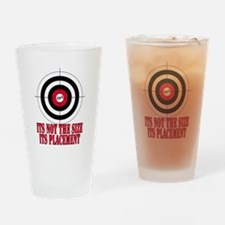Target Practice Funny Drinking Glass