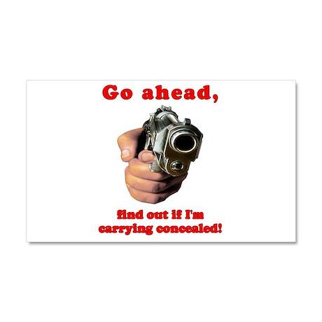 Concealed Gun Dare Car Magnet 20 x 12