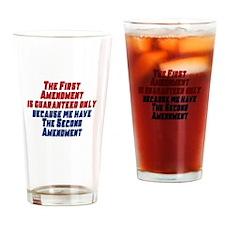 2nd Amendment Gun Drinking Glass