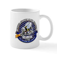 USN Navy Seabees Bee We Build Mug