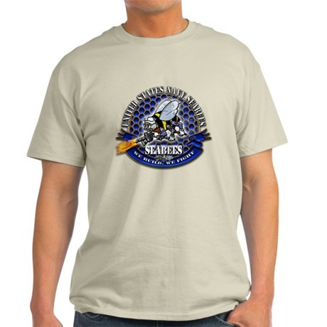 USN Navy Seabees Bee We Build Light T-Shirt