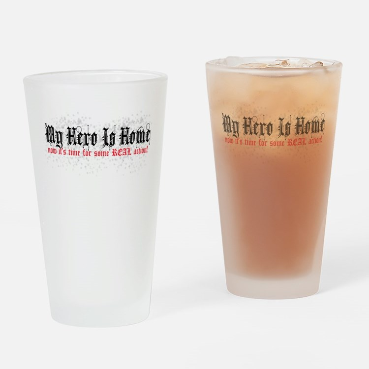My Hero Is Home Drinking Glass