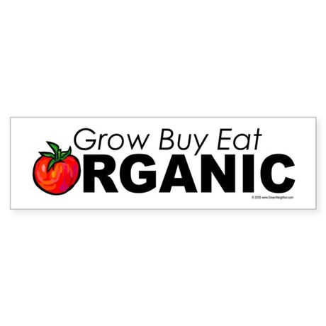 Organic Gardening, Farming Sticker (Bumper)