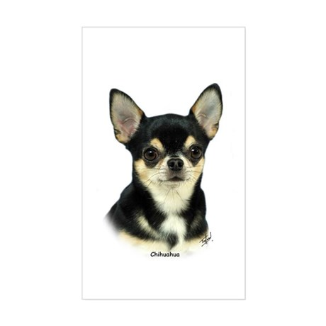 Chihuahua 9W092D-057 Sticker (Rectangle)