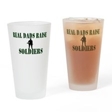 Real Dads Raise Soldiers Drinking Glass